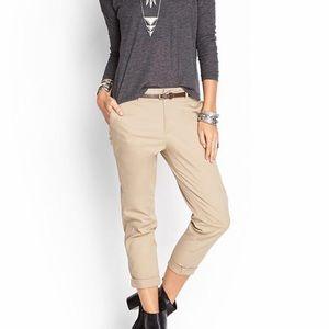 Khaki Pants With Belt
